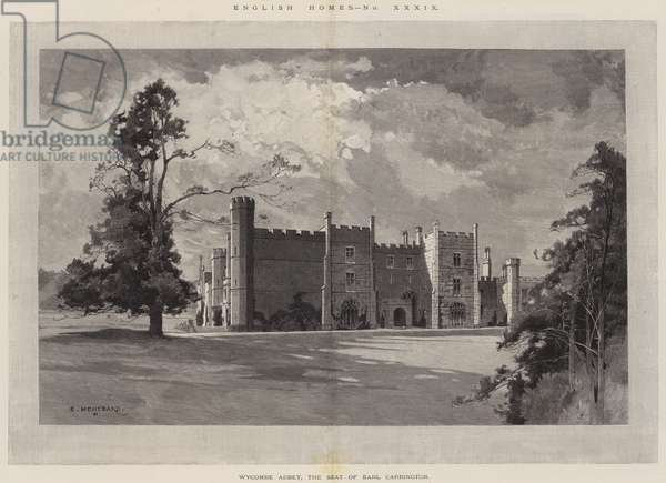 English Homes, Wycombe Abbey, the Seat of Earl Carrington (engraving)