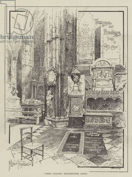 Poet's Corner, Westminster Abbey (engraving)