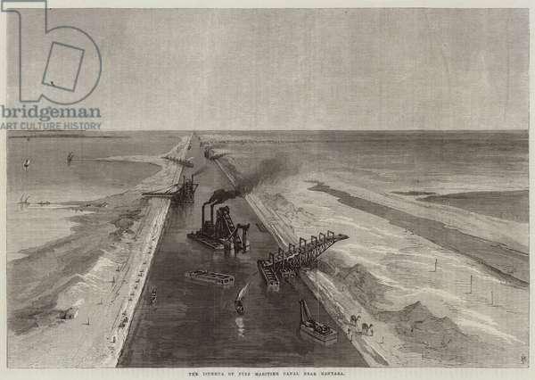 The Isthmus of Suez Maritime Canal near Kantara (engraving)