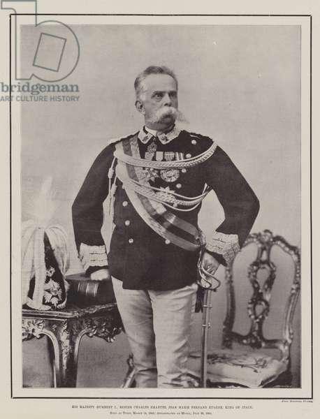 His Majesty Humbert I, Renier Charles Emanuel Jean Marie Fernand Eugene, King of Italy (b/w photo)