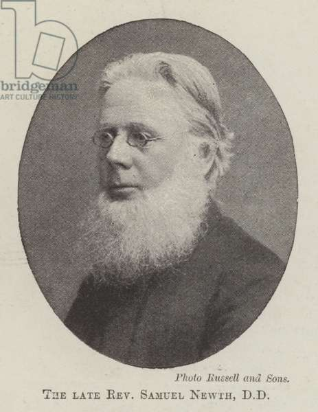 The late Reverend Samuel Newth, DD (b/w photo)