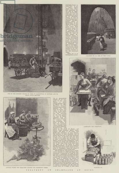 Treatment of Champagne at Reims (engraving)