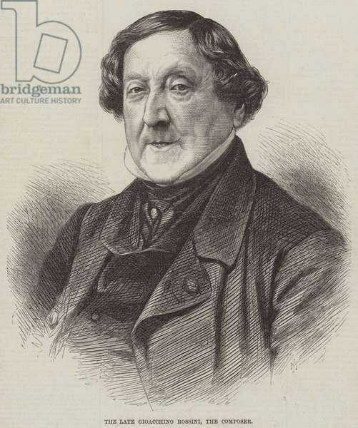 The late Gioacchino Rossini, the Composer (engraving)