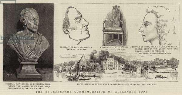 The Bi-Centenary Commemoration of Alexander Pope (engraving)