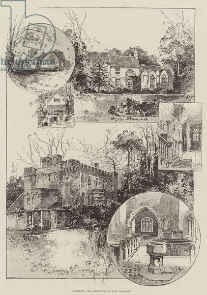 Somersby, the Birthplace of Lord Tennyson (engraving)