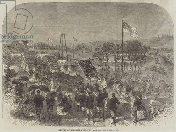 Opening of Alexandra Park at Oldham (engraving)