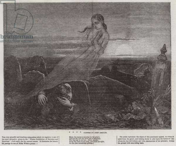 Dead Man Angel Grave Sunrise (engraving)