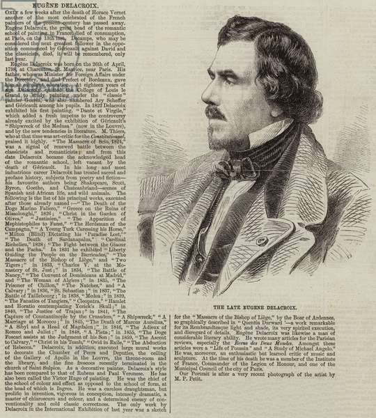 The Late Eugene Delacroix (engraving)