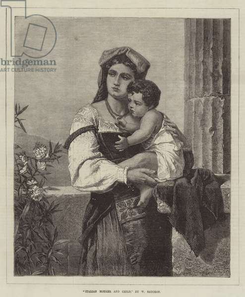 Italian Mother and Child (engraving)