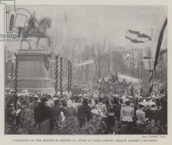 Unveiling of the Statue to Ernest II, Duke of Saxe-Coburg (Prince Albert's Brother) (b/w photo)