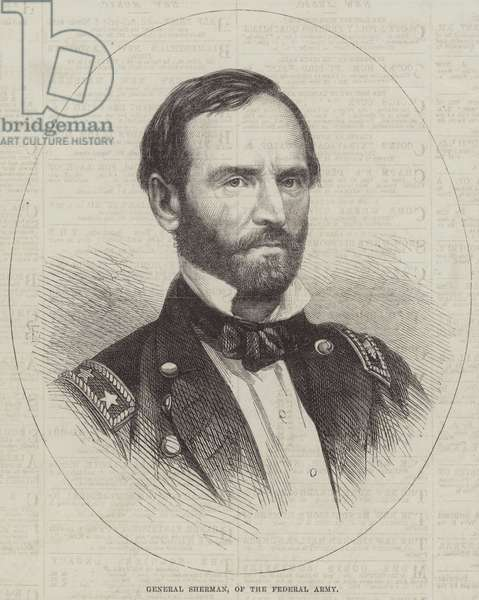 General Sherman, of the Federal Army (engraving)