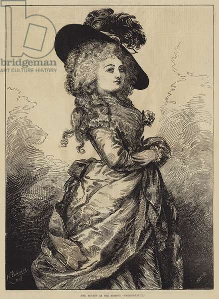 "Mrs Rousby as the Missing ""Gainsborough"" (engraving)"