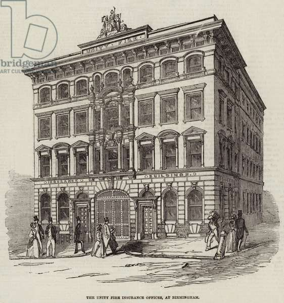 The Unity Fire Insurance Offices, at Birmingham (engraving)