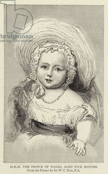 H R H The Prince of Wales, aged Five Months (engraving)