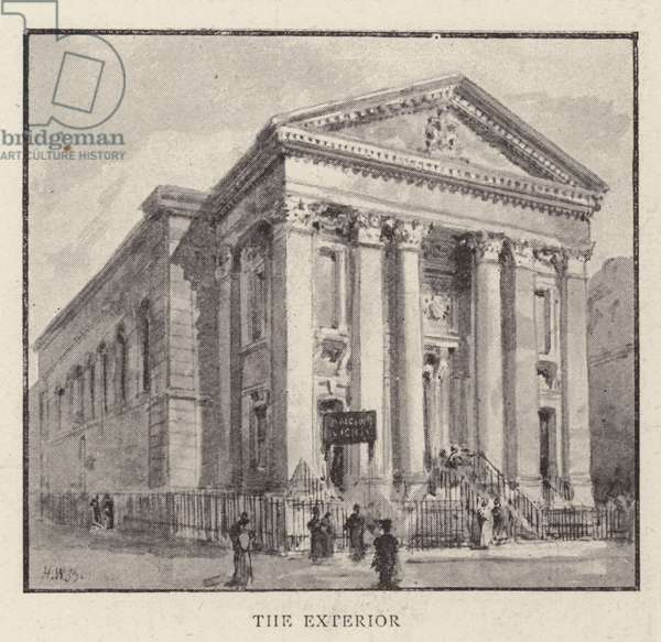 The Roman Catholic Church of St Mary, Moorfields, City, which is about to be pulled down (litho)