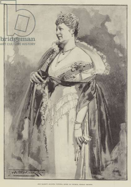 Her Majesty Augusta Victoria, Queen of Prussia, German Empress (litho)