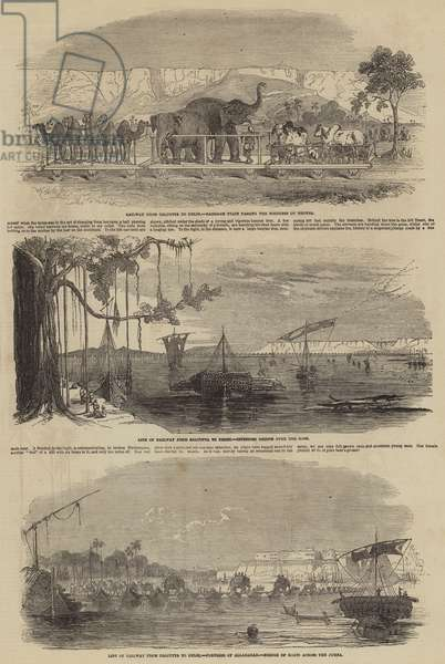 Railway from Calcutta to Delhi (engraving)