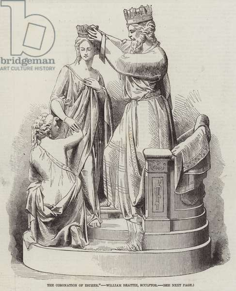 The Coronation of Esther, William Beattie, Sculptor (engraving)