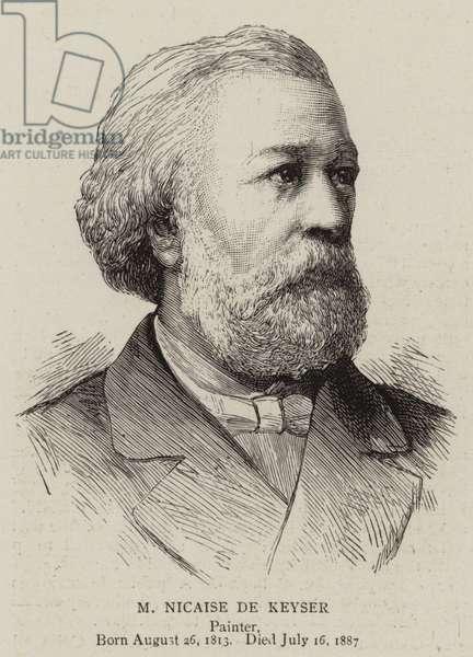 M Nicaise de Keyser (engraving)
