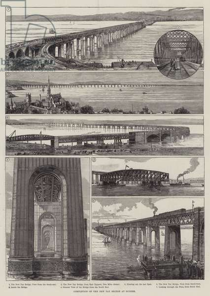 Completion of the New Tay Bridge at Dundee (engraving)