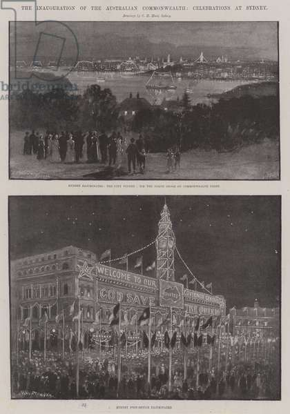 The Inauguration of the Australian Commonwealth, Celebrations in Sydney (litho)