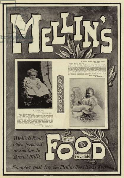 Advertisement, Mellin's Food (engraving)
