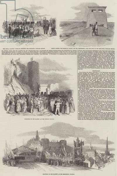 Her Majesty's Visit to the Britannia Tubular Bridge (engraving)