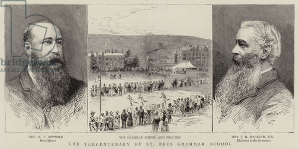 The Tercentenary of St Bees Grammar School (engraving)