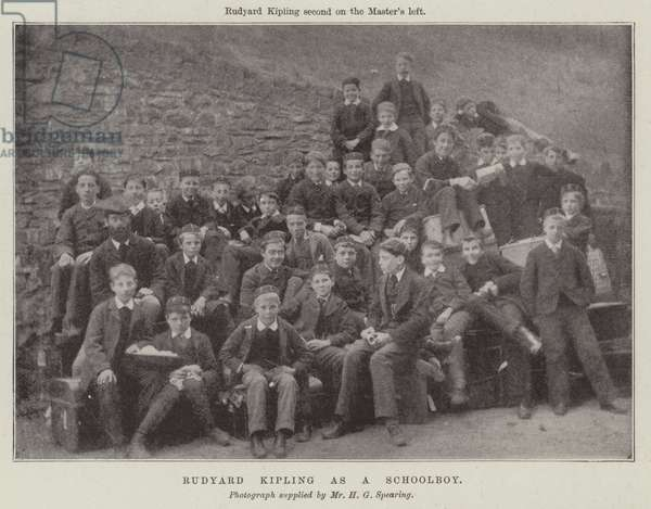 Rudyard Kipling as a Schoolboy (b/w photo)