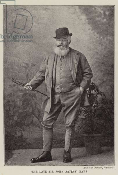The Late Sir John Astley, Baronet (b/w photo)