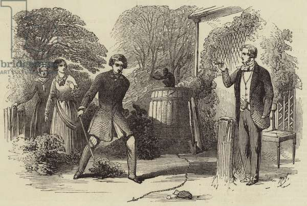 Illustration for Fred Holdersworth; or, Love and Pride, by Thomas Miller (engraving)