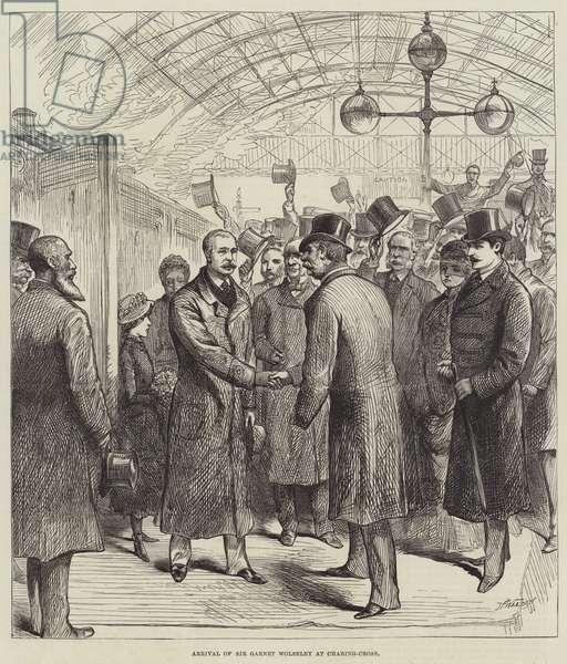 Arrival of Sir Garnet Wolseley at Charing-Cross (engraving)
