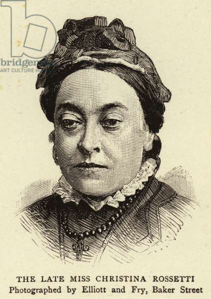 The Late Miss Christina Rossetti (engraving)