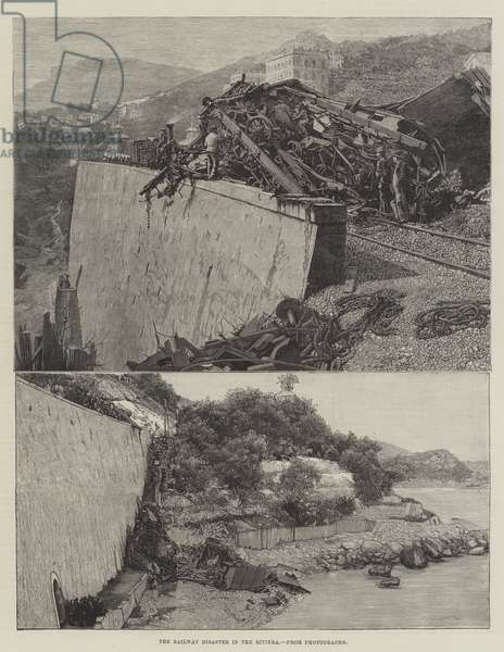 The Railway Disaster in the Riviera (engraving)
