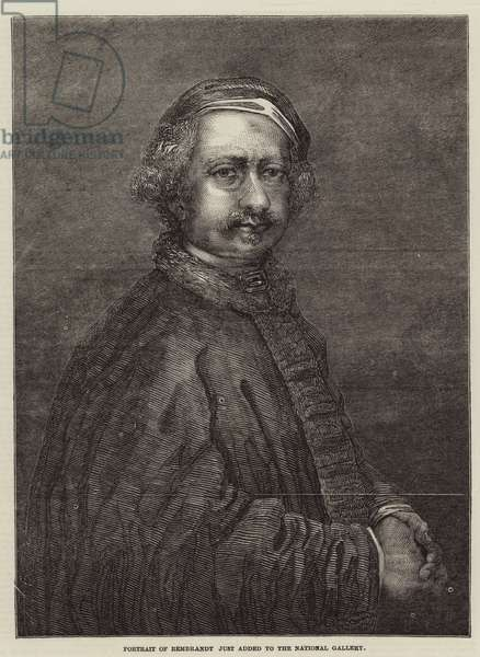 Portrait of Rembrandt just added to the National Gallery (engraving)