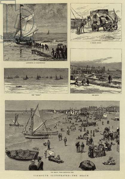 Yarmouth Illustrated, the Beach (engraving)