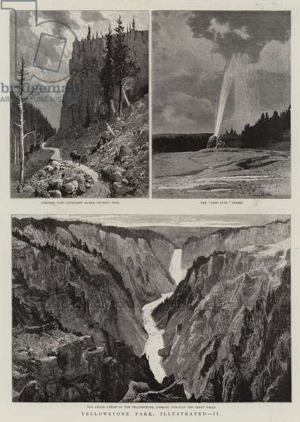 Yellowstone Park Illustrated, II (engraving)