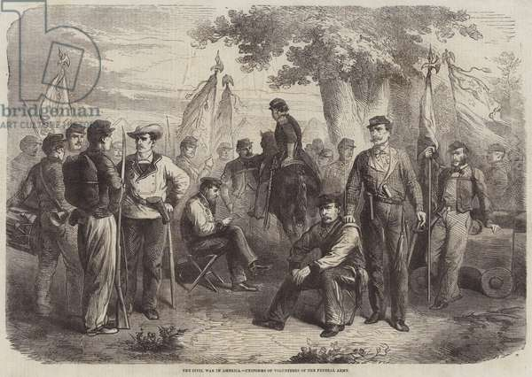 The Civil War in America, Uniforms of Volunteers of the Federal Army (engraving)