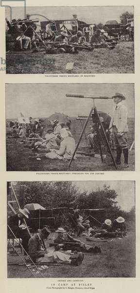 In Camp at Bisley (b/w photo)