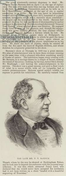 The late Mr P T Barnum (engraving)