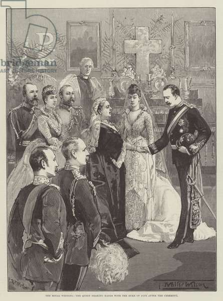 The Royal Wedding, the Queen shaking Hands with the Duke of Fife after the Ceremony (engraving)