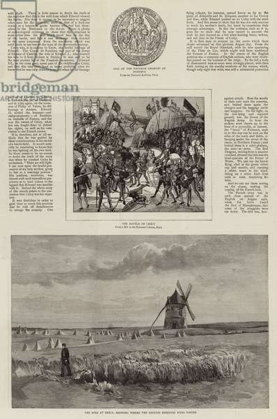 An Artist's Visit to the Battlefields of Crecy and Agincourt (engraving)