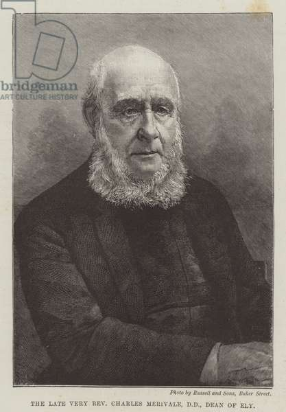 The late Very Reverend Charles Merivale, DD, Dean of Ely (engraving)