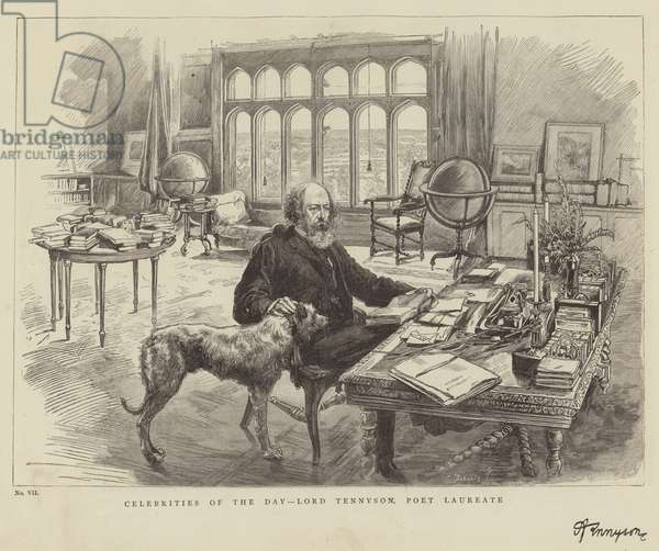 Celebrities of the Day, Lord Tennyson, Poet Laureate (engraving)
