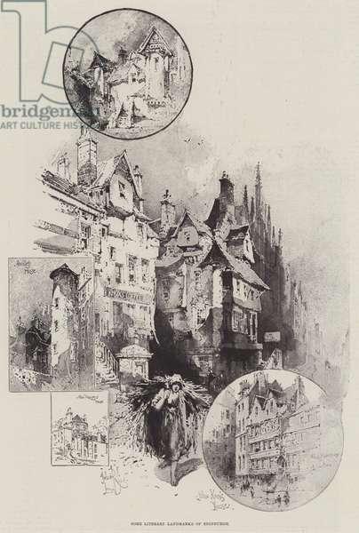 Some Literary Landmarks of Edinburgh (engraving)