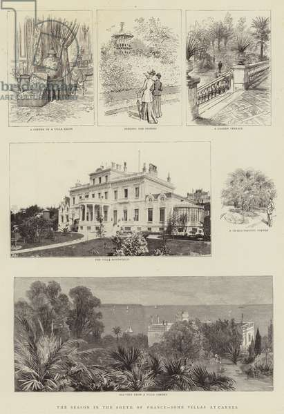 The Season in the South of France, Some Villas at Cannes (engraving)