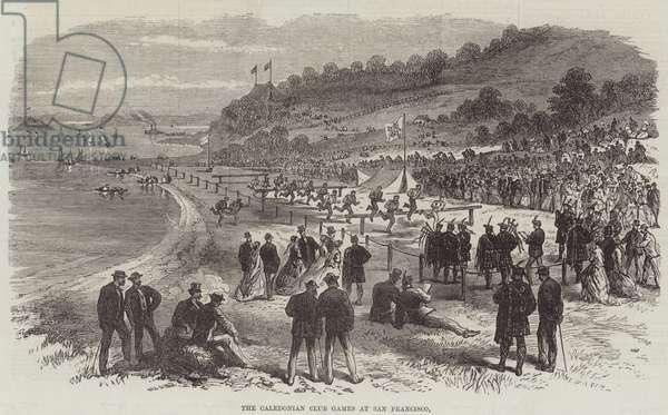 The Caledonian Club Games at San Francisco (engraving)