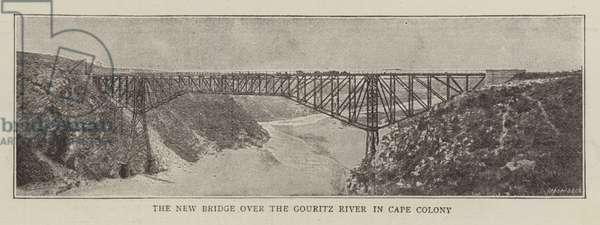 The New Bridge over the Gouritz River in Cape Colony (b/w photo)