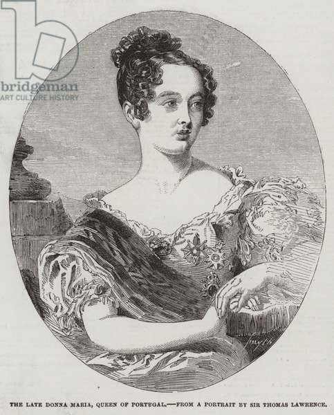 The Late Donna Maria, Queen of Portugal (engraving)