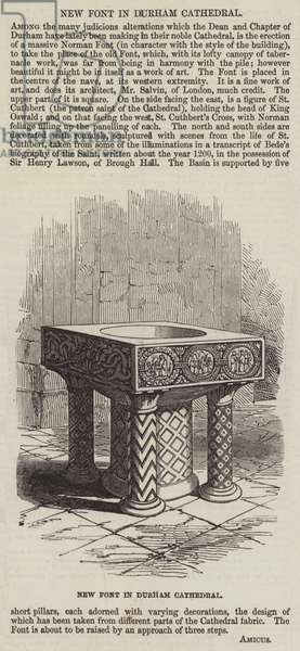 New Font in Durham Cathedral (engraving)